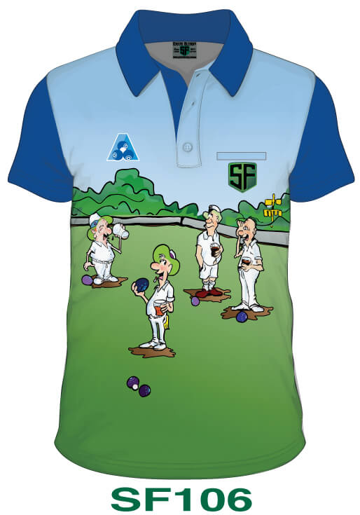 Sports Factory Lawn Bowls Polo Shirt Design SF106