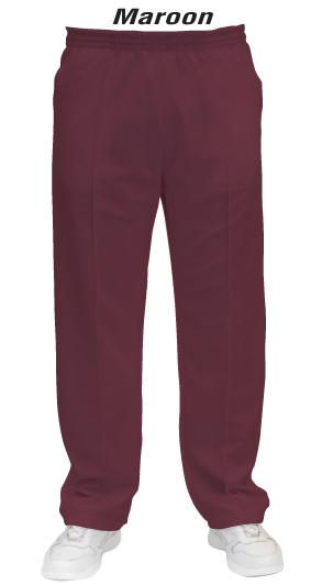 Maroon Men & Womens' Lawn Bowls Pants