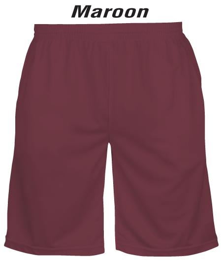 Maroon Mens & Ladies Lawn Bowls Shorts